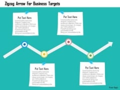 Business Diagram Zigzag Arrow For Business Targets Presentation Template