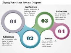 Business Diagram Zigzag Four Steps Process Diagram Presentation Template