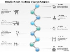 Business Diagram Zigzag Roadmap With Timeline Diagram Presentation Template