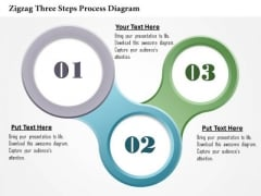 Business Diagram Zigzag Three Steps Process Diagram Presentation Template