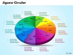 Business Diagrams PowerPoint Templates Business 3d Jigsaw Circular Pie Chart Ppt Slides