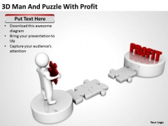 Business Diagrams Templates 3d Man And Puzzle With Profit PowerPoint