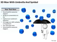Business Diagrams Templates Umbrella And Symbol PowerPoint Ppt Backgrounds For Slides