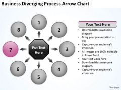 Business Diverging Process Arrow Chart Relative Cycle PowerPoint Slides