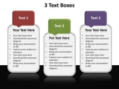 Business Editable PowerPoint Templates Business 3 Text Boxes Ppt Slides