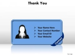 Business Editable PowerPoint Templates Business Thank You Contact Ppt Slides