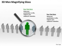 Business Entity Diagram 3d Men Magnifying Glass PowerPoint Templates Ppt Backgrounds For Slides