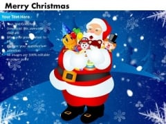 Business Festival PowerPoint Templates Business Merry Christmas Ppt Slides