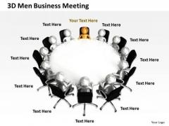 Business Flow Chart 3d Men PowerPoint Templates Meeting Slides