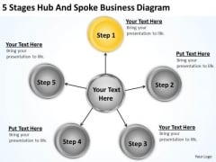 Business Flow Diagram Example PowerPoint Templates Free Download Ppt Slides