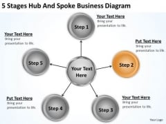 Business Flow Diagram Example PowerPoint Templates Free Download Slides