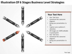 Business Flow Diagram Illustration Of 6 Stages Level Strategies Ppt PowerPoint Template