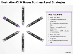 Business Flow Diagram Illustration Of 6 Stages Level Strategies Ppt PowerPoint Templates