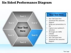 Business Flow Diagram Six Sided Multicolor Hexagon Ppt PowerPoint Templates