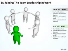 Business Flow Diagram The Team Leadership Work PowerPoint Templates Ppt Backgrounds For Slides