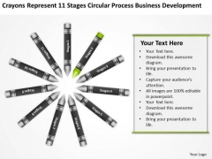 Business Flowcharts 11 Stages Circular Process Development Ppt PowerPoint Template