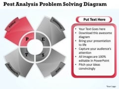 Business Flowcharts Pest Analysis Problem Solving Diagram PowerPoint Templates