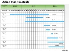 Business Framework Action Plan Timetable PowerPoint Presentation