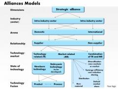 Business Framework Alliances Models PowerPoint Presentation