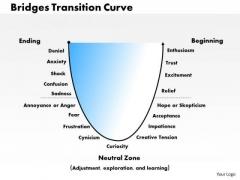Business Framework Bridges Transition Curve PowerPoint Presentation