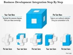 Business Framework Business Development Integration Step By Step PowerPoint Presentation