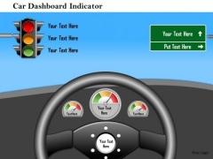 Business Framework Car Dashboard Indicator PowerPoint Presentation