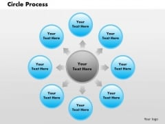 Business Framework Circle Process PowerPoint Presentation