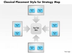 Business Framework Classical Placement Style For Strategy Map PowerPoint Presentation