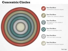 Business Framework Concentric Circles In PowerPoint Presentation