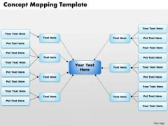 Business Framework Concept Mapping Template PowerPoint Presentation
