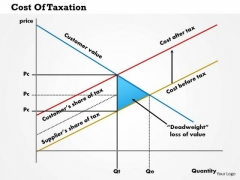 Business Framework Cost Of Taxation PowerPoint Presentation