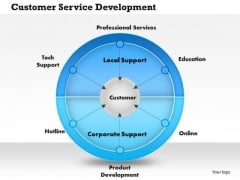 Business Framework Customer Service Development PowerPoint Presentation