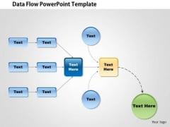 Business Framework Data Flow Diagram PowerPoint Presentation
