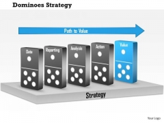 Business Framework Dominoes Strategy PowerPoint Presentation 1