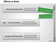 Business Framework Efficiency Ratio PowerPoint Presentation 1