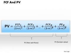 Business Framework Fcf And Pv PowerPoint Presentation