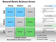 Business Framework General Electric Business Screen PowerPoint Presentation