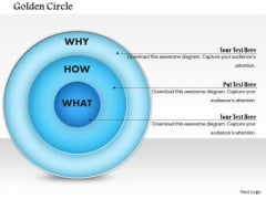 Business Framework Golden Circle PowerPoint Presentation