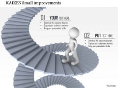 Business Framework Kaizen Small Improvements PowerPoint Presentation