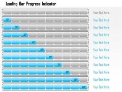 Business Framework Loading Bar Progress Indicator PowerPoint Presentation