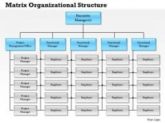 Business Framework Matrix Organizational Structure PowerPoint Presentation