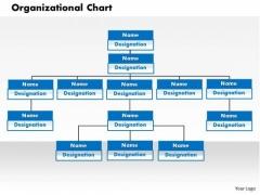 Business Framework Organization Chart In PowerPoint PowerPoint Presentation
