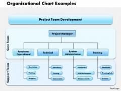 Business Framework Organizational Chart Examples PowerPoint Presentation