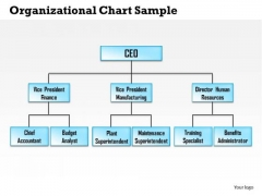 organizational chart sample powerpoint templates, slides and graphics, Modern powerpoint