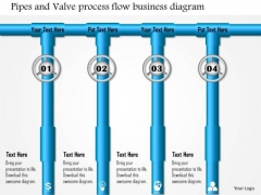 Business Framework Pipes And Valve Process Flow Business Diagram PowerPoint Presentation