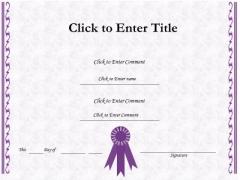 Business Framework PowerPoint Certificate Template PowerPoint Presentation