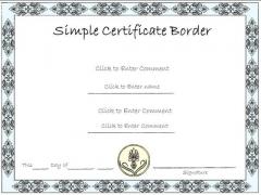 Business Framework PowerPoint Certificate Templates PowerPoint Presentation
