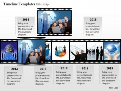 Business Framework PowerPoint Timeline Template Filmstrip PowerPoint Presentation