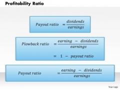 Business Framework Profitability Ratio PowerPoint Presentation
