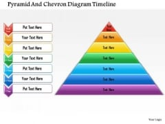 Business Framework Pyramid And Chevron Diagram Timeline PowerPoint Presentation